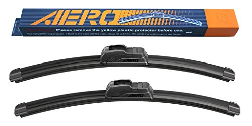 OEM QUALITY 22″ + 20″ AERO Premium All-Season Windshield Wiper Blades (Set of 2)
