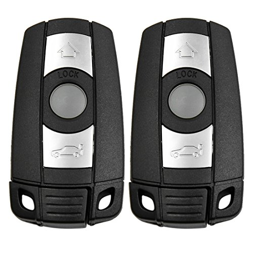 uxcell 2 Pcs New Uncut Key Fob Remote Case Shell Replacement KR55WK49127 for BMW 5