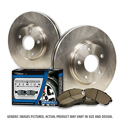 (Front Kit) 2 OEM Replacement Great-Life Premium Disc Brake Rotors + 4 Semi-Met Pads(Works with X3)(5lug)-Combo Brake Kit-[SHIPS FROM USA!!-Tax Incl.]