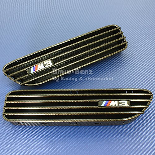 B2 2″ SIDE FENDER GRILLE GRILL VENT FOR 2001-2006 BMW E46 M3 Carbon Look