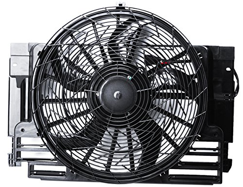 TOPAZ 64546921381 Auxiliary Condenser Cooling Fan Assembly for 2000-2006 BMW X5
