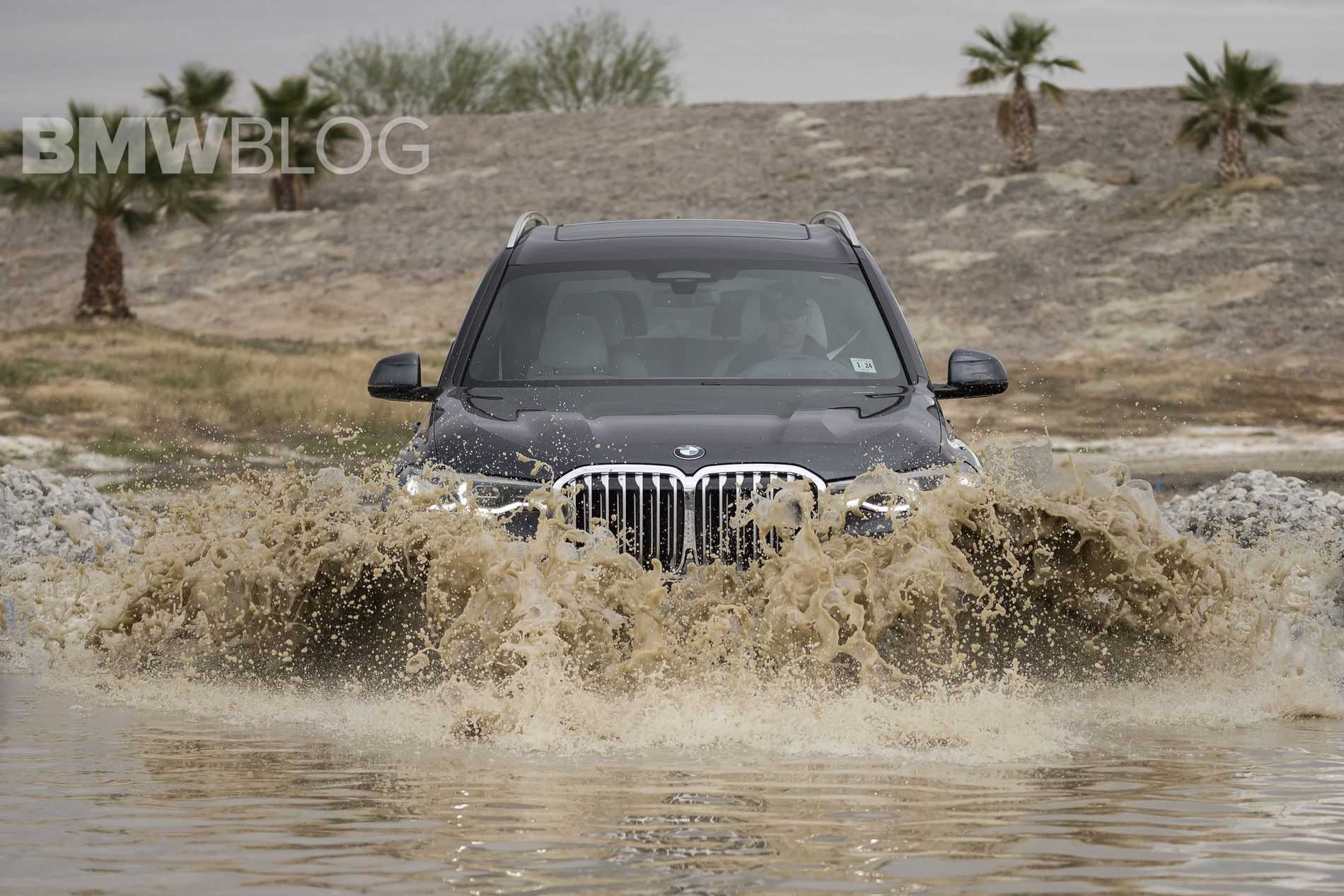 More fun with the BMW X7 on an off-road course