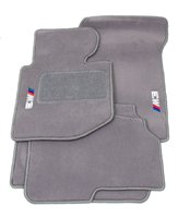 """BMW Genuine M Logo Gray Floor Mats for E46 – 3 SERIES M3 CONVERTIBLE (2000 – 2006), set of Four"""