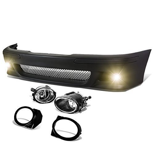 DNA Motoring FBP-FL-002 Polypropylene ABS Front Bumper+Fog Light (M5 Style) [For 96-03 BMW E39]
