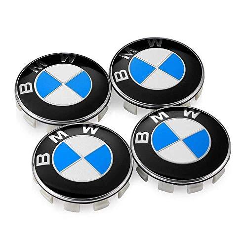 Wheel Center Caps Emblem for BMW, 68mm Standard BMW Logo Rim Center Hub Cap for All Models with Stock BMW Wheels Blue & White Color 4PCS
