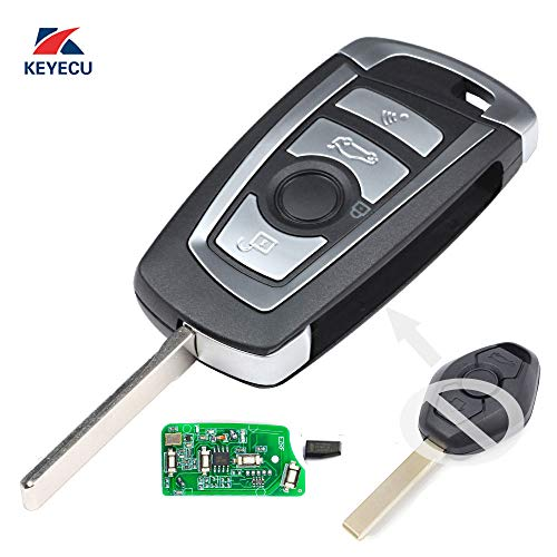 Keyecu EWS Modified Flip Remote Key 4 Button For BMW X5 Z3