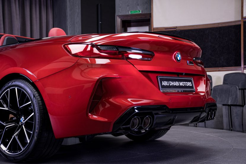 BMW M8 Competition Convertible F91 in Motegi Red 10 830x553