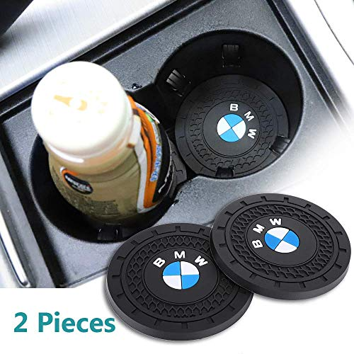 Auto sport 2.75 Inch Diameter Oval Tough Car Logo Vehicle Travel Auto Cup Holder Insert Coaster Can 2 Pcs for BMW Accessories