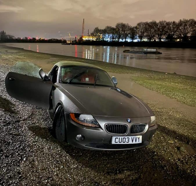 BMW owner watched helpless as his car was swept away by a freak tidal surge in Thames