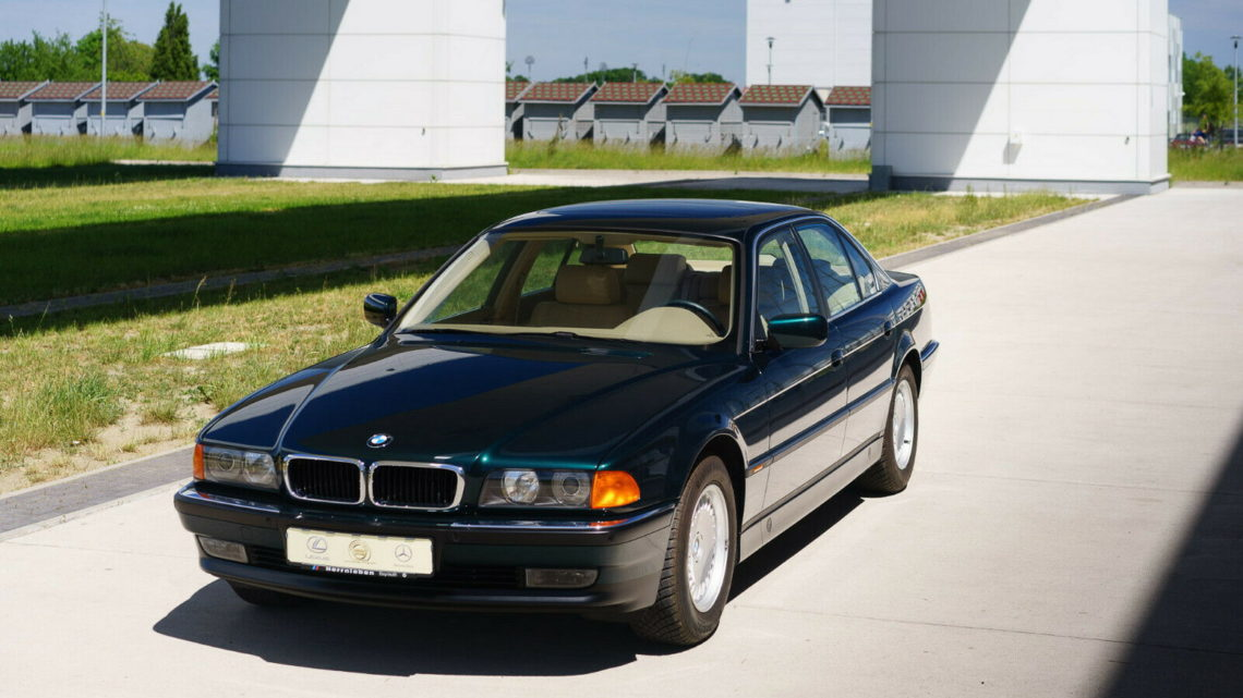 This 1997 BMW 740i Was Placed In A Bubble After Just 158 Miles Where It Stayed For 23 Years!