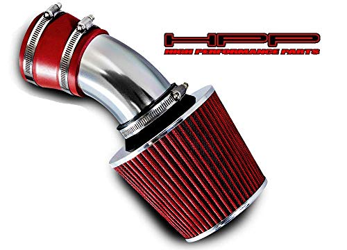 High performance parts Short Ram Air Intake Kit & Red Filter Combo Compatible for 1998-2005 BMW E46 3-Series