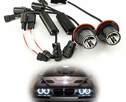 iJDMTOY 15W CREE High Power LED Angel Eye Bulbs For BMW 5 6 7 Series X3 X5 (E39 E60 E63 E65 E53), 7000K Xenon White Headlight Ring Marker Lights