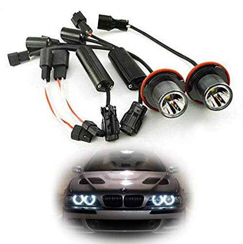 iJDMTOY 15W CREE High Power LED Angel Eye Bulbs For BMW 5 6 7 Series X3 X5 (E39 E60 E63 E65 E53), 7000K Xenon White Headlight Ring Marker Lights