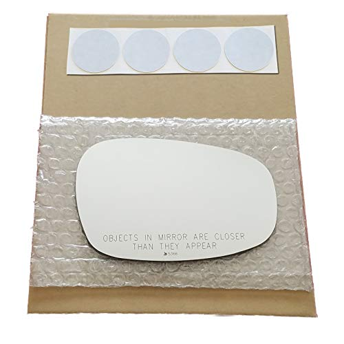Mirror Glass Replacement + Adhesive Pads for 2009-2013 BMW 328i Passenger Side