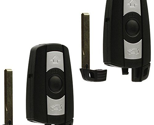 Car Key Fob Keyless Entry Remote fits BMW 3, 5, Series (KR55WK49123, KR55WK49127), Set of 2