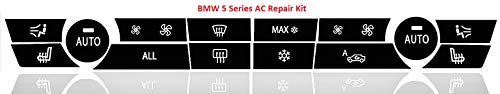 Faded Worn AC Button Repair Kit for 2009-2015 BMW 5 Series Vehicles – Durable Vinyl Overlay Decals