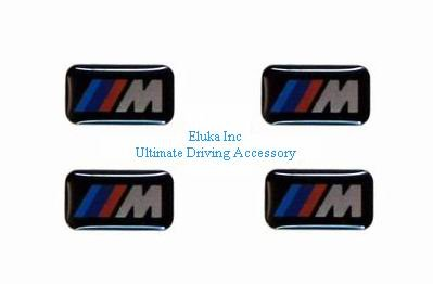 4 BMW Genuine M 3d Stickers Badges Emblems Decals