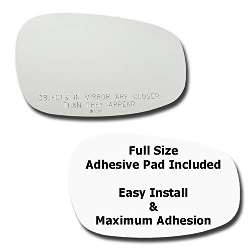 Mirror Glass + Full Size Adhesive Pad for2009-2013 BMW 328i Passenger Side Replacement