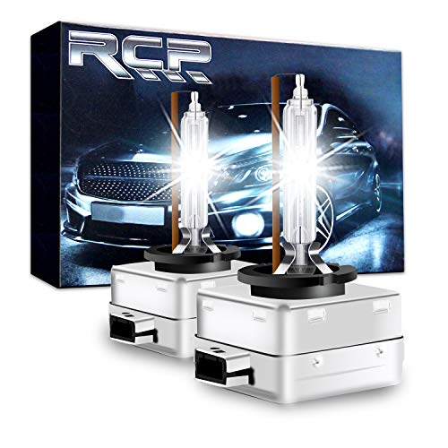 RCP – D1S4 – (A Pair) D1S/ D1R 4300K Xenon HID Replacement Bulb Factory White Warm White Metal Stents Base 12V Car Headlight Lamps Head Lights 35W