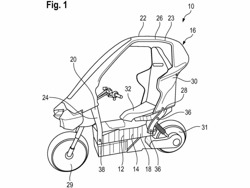BMW Patents convertible electric scooter with airbags