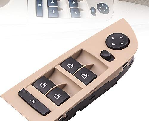 Heart Horse Window Master Mirror Switch for BMW E90 E91 325i 325xi 328i 328xi 330i xi 335d 335xi Front Power Door Panel Console,Replace 61319217331 61319217329 (Left Driver Side)