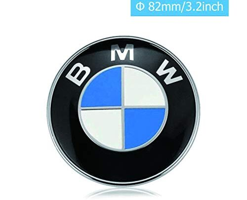 TaTyee Emblem Hood and Trunk, 82mm Emblem Logo Replacement fit for All Models BMW E30 E36 E46 E34 E39 E60 E65 E38 X3 X5 X6 3 4 5 6 7 8