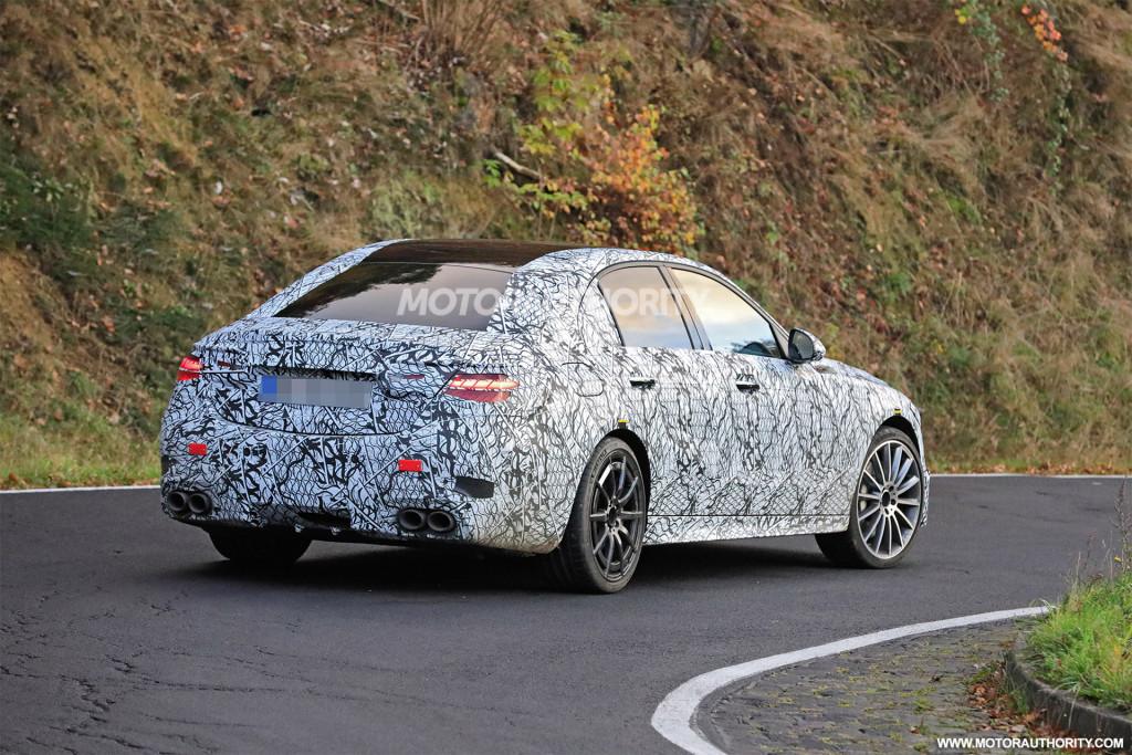 2022 Mercedes-AMG C53 spy shots - Photo credit:S. Baldauf/SB-Medien