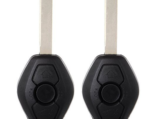 ECCPP Replacement fit for Uncut 315MHz/ 433MHz Keyless Remote Entry Transmitter Key Fob BMW Series LX8FZV (Pack of 2)