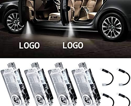 Eogifee LED Car Door Light Projector Courtesy LED Laser Welcome Lights Ghost Shadow Light Logo Lamps for The Replacement of BMW 3/5/6/7/Z/GT Mini (4 Pack)