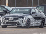 2022 Cadillac CT4-V Blackwing spy shots - Photo credit: S. Baldauf/SB-Medien