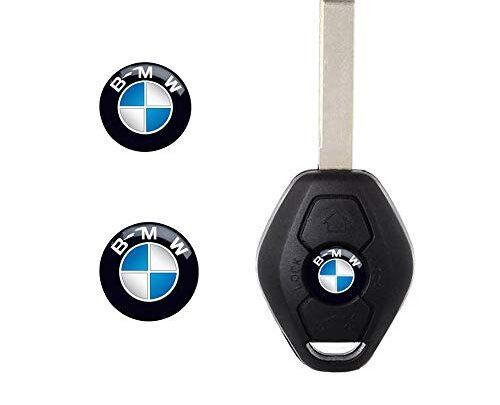 Enseng 11mm Key Fob Emblem Sticker Logo Badge for BMW (2 PCS)