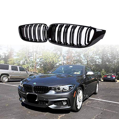 Front Grill/Grilles Kidney Grill Replacement for BMW 4 Series F32 F33 F36 F80 F82(ABS, Gloss Black)
