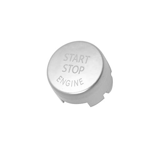 DKMUS Start Stop Engine Switch Power Ignition Button Replacement for BMW 1 2 3 4 5 6 7 X1 X3 X4 X5 X6 Series 2010-2016 (Silver)