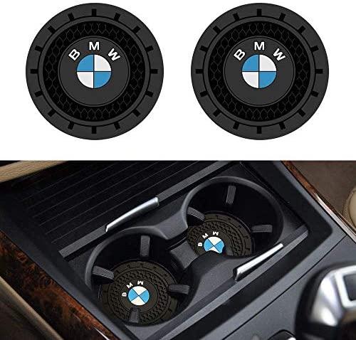 SOONDAR 2Pcs Car Interior Anti Slip Cup Mat for BMW 1 3 5 7 Series F30 F35 320li 316i X1 X3 X4 X5 X6 (2.75″)