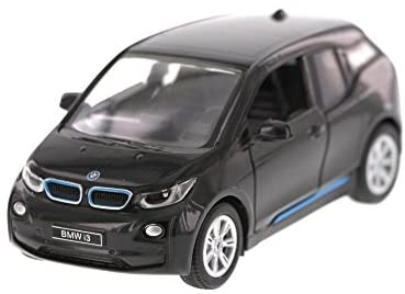 1:32 Scale BMW i3 Electric Car Model (Arravani Black w/BMW i Frozen Blue accent)