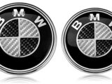 2PCS Black and White 82mm Hood Emblem/74mm Trunk Emblem with 2 Grommets Replacement for B X3 X5 X6 3 4 5 6 7 8 series 325i 328i E46 E30 E36 E34 E38 E39 E60 E65 E90 (Carbon fibre White Black)