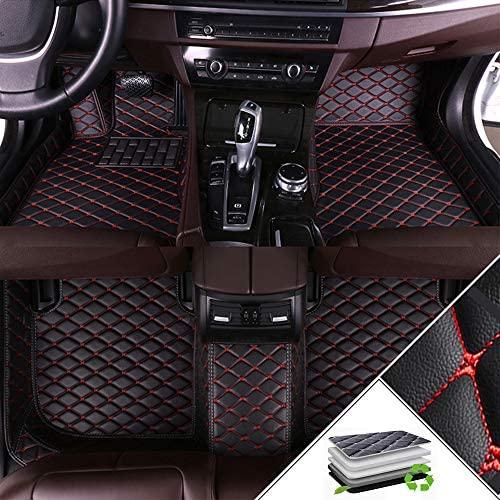 Custom Car Floor Mats For BMW 7 series F01 F02F03F04E23E32E38E65E66G22G12730i740i750i740Li745li750li760i 2013-2015 All Weather Waterproof Non-slip Full Covered Liners Black Red