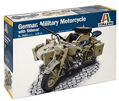 Italeri 7403S 1/9 BMW R75 German Military Mtrcycle w/Sidecar