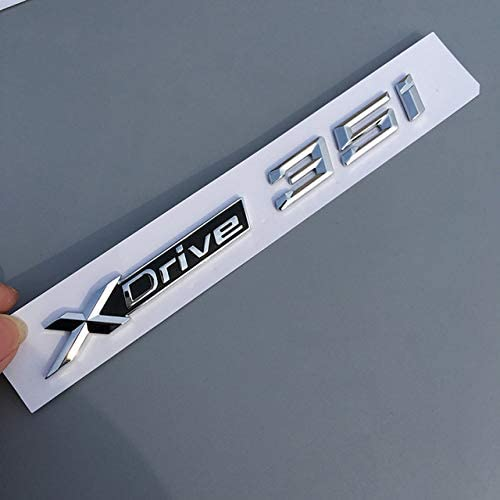 For BMW New XDrive SDrive 18Li 20Li 20i 25i 28i 30i 35i 50Li 20d Fender Trunk Emblem Badge X1 X3 X4 X5 X6 X7 Car Styling Sticker (XDrive 35i)