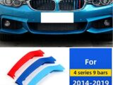 M-Colored Grille Insert Trims Compatible with 2014-up BMW F32 F33 F36 4 Series w/9-Beam Grill