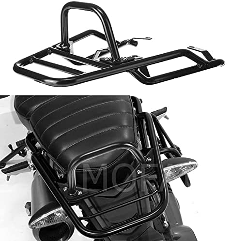 MOFANS Rear Luggage Rack with Hand Grip Bar Fit For Compatible With BMW R NINE T Pure Racer Scrambler 2014 2015 2016 2017 2018