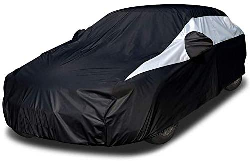 Titan Lightweight Car Cover (Jet Black) Compatible with Avalon, BMW 6-8 Series, XTS and More. Waterproof Car Cover Measures 210 Inches and Includes a Driver-Side Zippered Opening.