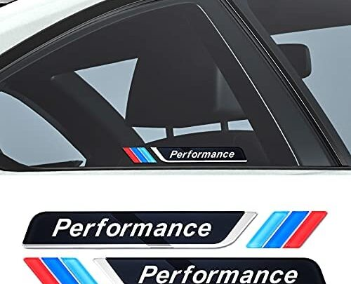 2PCS Car Emblem Badge Sticker Acrylic Decals Trim Universal Compatible with BMW Accessories, Self-Adhesive