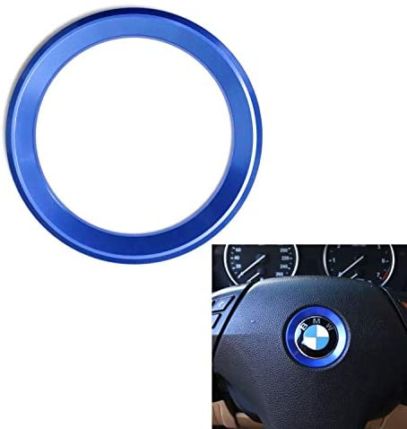 DEMILLO Aluminum Steering Wheel Center Decoration Cover Trim Suit for BMW 1 2 3 4 5 6 Series X4 X 5 X6 (F20 F21 F22 F23 F30 F31 F32 F33 F35 F36 F10 F11 F12 F13 F26 F15 F16) (blue)
