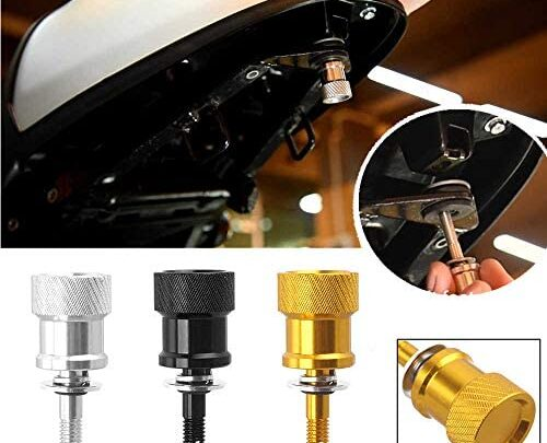 R9T Motorcycle CNC Rear Passenger Seat Bolt Removal Tool – Less Quick Release for 14-21 BMW R Nine T NineT /5 RnineT Pure Racer Scrambler Urban G/S 2014 2015 2016 2017 2018 2019 2020 2021 (Silver)